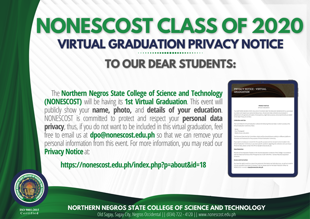 Virtual Graduation Privacy Notice